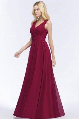 PATIENCE | A-line Floor Length V-neck Sleeveless Ruffled Chiffon Bridesmaid Dresses_7