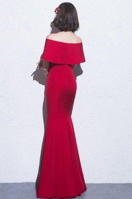 Mermaid Off-the-shoulder Long Slit Formal Evening Gowns/Prom Dresses_5