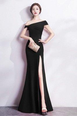 Mermaid Floor Length One-shoulder Slit Prom/Formal Evening Dresses_2