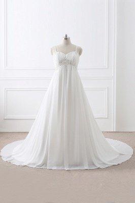 ALIVIA | Elegante A-Linie Chiffon Brautkleider Tr?ger Applikationen Lace-Up Brautkleider_2