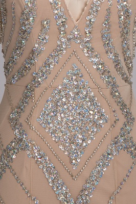 NAN | Mermaid V-neck Floor Length Sleeveless Sequins Prom Dresses