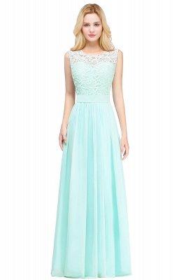 EMELY | Sheath Crew Sleeveless Floor-length Lace Top Chiffon Bridesmaid Dresses_4