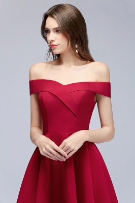 MAMIE | A-line Off-the-shoulder Short Burgundy Homecoming Dresses_7