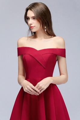 MAMIE | Una línea de hombro corto borgoña vestidos de regreso al hogar_8