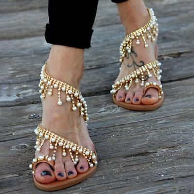Sandales en cuir pour femme_5