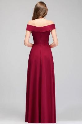 MAISIE | A-line Off-the-shoulder Floor Length Burgundy Bridesmaid Dresses_5
