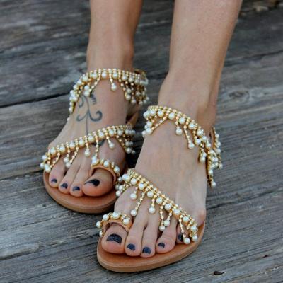 Sandales en cuir pour femme_1