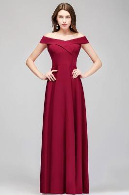 MAISIE | A-line Off-the-shoulder Floor Length Burgundy Bridesmaid Dresses_8