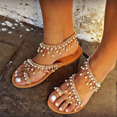 Sandales en cuir pour femme_4