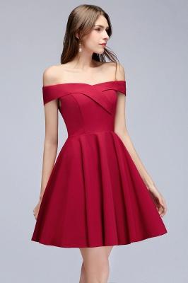 MAMIE | Una línea de hombro corto borgoña vestidos de regreso al hogar_10