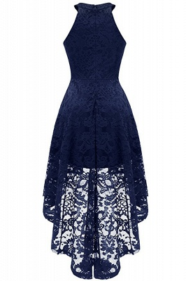 Lace Dress Female Robe Casual 1950s Rockabilly High Low Sleeveless Swing Summer Dresses_8