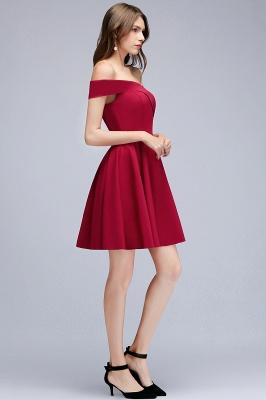MAMIE | Una línea de hombro corto borgoña vestidos de regreso al hogar_11