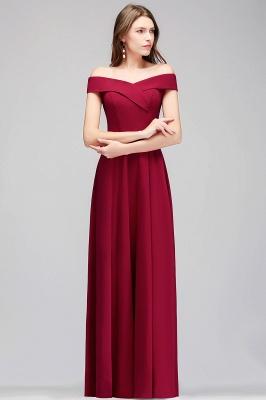 MAISIE | A-line Off-the-shoulder Floor Length Burgundy Bridesmaid Dresses_6