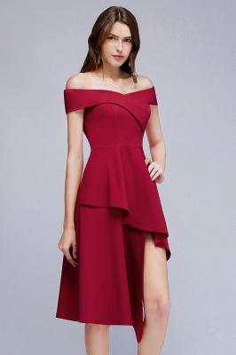 MALLORY | A-line Asymmetrical Short Off-the-shoulder Burgundy Prom Dresses_7