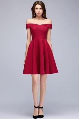 MAMIE | Una línea de hombro corto borgoña vestidos de regreso al hogar_6