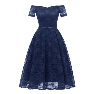 neue A-Linie Frauen Lace Vintage Dress_4