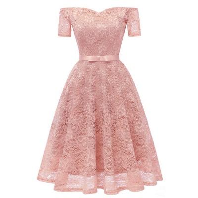 neue A-Linie Frauen Lace Vintage Dress_1