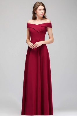 MAISIE | A-line Off-the-shoulder Floor Length Burgundy Bridesmaid Dresses