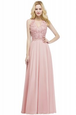 Elegantes Brautjungferkleid Mit Applikationnen Und Perlen | Günstiges Brautjungfer Kleid Online Kaufen_1