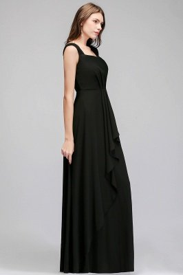 MAGDALEN | A-line Floor Length Sleeveless Ruffled Chiffon Bridesmaid Dresses_6