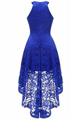 Lace Dress Female Robe Casual 1950s Rockabilly High Low Sleeveless Swing Summer Dresses_10