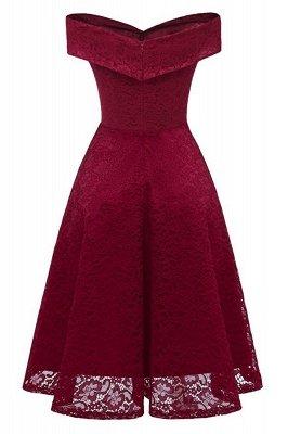 Schlichte Hellrosa Abendkleider A-Linie | Kurz Party Kleider Schulterfrei_2