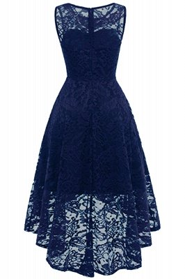 Women Floral Lace Bridesmaid Party Dress Short Prom Dress V Neck_12