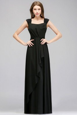 MAGDALEN | A-line Floor Length Sleeveless Ruffled Chiffon Bridesmaid Dresses_1