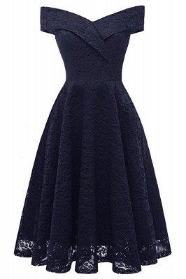 Schlichte Hellrosa Abendkleider A-Linie | Kurz Party Kleider Schulterfrei_3