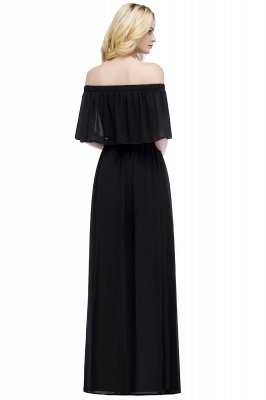 Hera | Off the shoulder Black Long Evening Dress - Clearance Sale_6