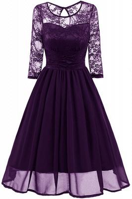Elegant Womans Chiffon Lace Dress Brand Ladies Girl Prom Dresses_2