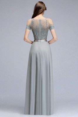 MADGE   A-line Two-piece Floor Length Appliqued Chiffon Prom Dresses_2
