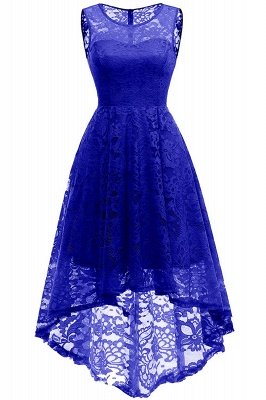 Women Floral Lace Bridesmaid Party Dress Short Prom Dress V Neck_16