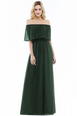 Hera | Off the shoulder Black Long Evening Dress - Clearance Sale_4