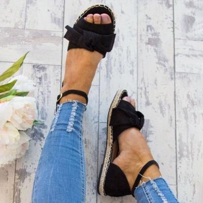 Bride à la cheville appartements lacets chaussures sandales espadrilles en daim_7