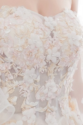 NANCE | Ball Gown Off-the-shoulder Floor Length Appliques Tulle Wedding Dresses_12