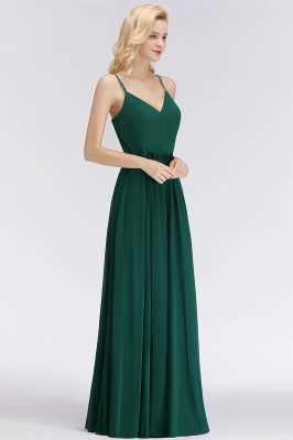 NICOLA | A-line Floor Length V-neck Spaghetti Chiffon Bridesmaid Dresses_1