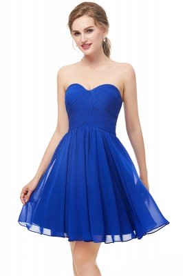 NETTIE | Aline Short Sweetheart Strapless Chiffon Blue Homecoming Dresses_6