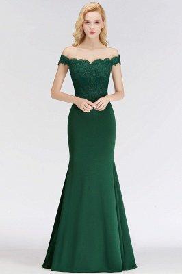 Elegante Brautjungfernkleider Dunkelgrün Online Kaufen | Günstige Brautjungferkleider Mit Applikationnen_10