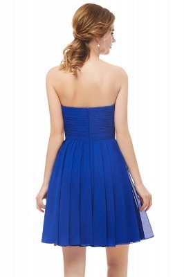 NETTIE | Aline Short Sweetheart Strapless Chiffon Blue Homecoming Dresses_3