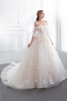 NANCE | Бальное платье без бретелек длиной до пола Appliques Tulle Wedding Dresses_5