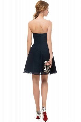 NELLY | A-line Strapless Short Black Chiffon Homecoming Dresses_6
