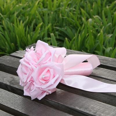 Einfacher Silk Rose-Hochzeits-Blumenstrauß in den mehrfachen Farben_3