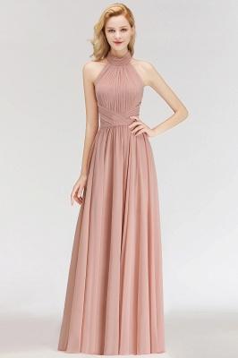 Elegante Hellrosa A-Linie Brautjungfer kleider   Schlichtes Brautjungferkleid Online Kaufen_1