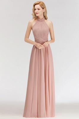 Elegante Hellrosa A-Linie Brautjungfer kleider | Schlichtes Brautjungferkleid Online Kaufen_6