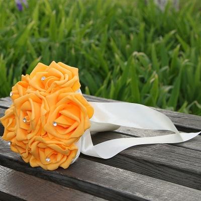 Einfacher Silk Rose-Hochzeits-Blumenstrauß in den mehrfachen Farben_7