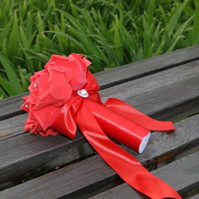 Einfacher Silk Rose-Hochzeits-Blumenstrauß in den mehrfachen Farben_14