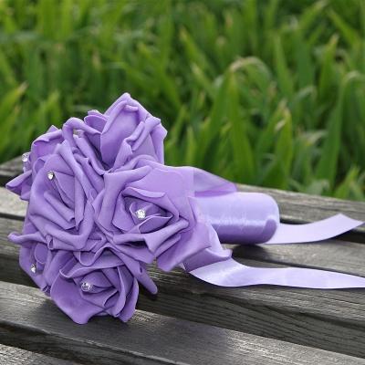 Einfacher Silk Rose-Hochzeits-Blumenstrauß in den mehrfachen Farben_10