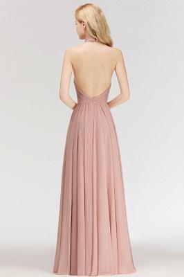 Elegante Hellrosa A-Linie Brautjungfer kleider   Schlichtes Brautjungferkleid Online Kaufen_3