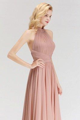 Elegante Hellrosa A-Linie Brautjungfer kleider | Schlichtes Brautjungferkleid Online Kaufen_4